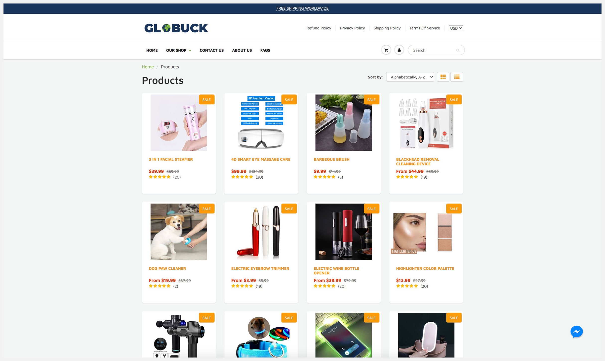Product Listing Page (PLP)